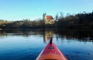 Kayaking in Neris